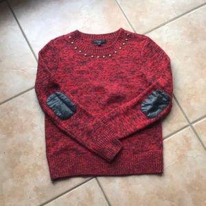 Anthro + Sanctuary Marled Elbow Pad Sweater Small
